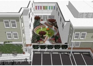 Courtyard-Watercolor