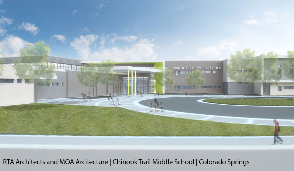 RTA Architects and MOA Architecture | Chinook Trail Middle School | Colorado Springs