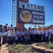 Atlas Real Estate Group and Bilingual Elementary School Children Bond Over Xeriscape Garden