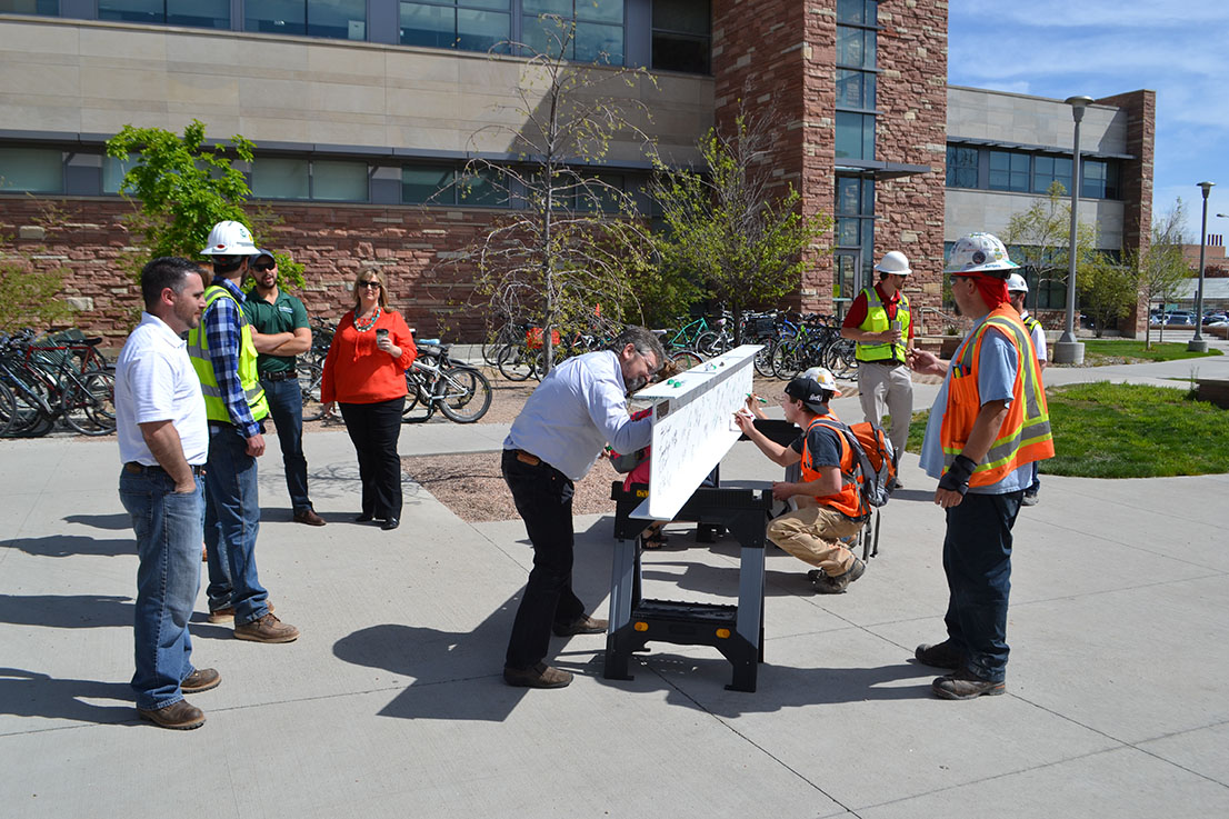 Haselden_CSU Biology Beam Signing_Fort Collins CO