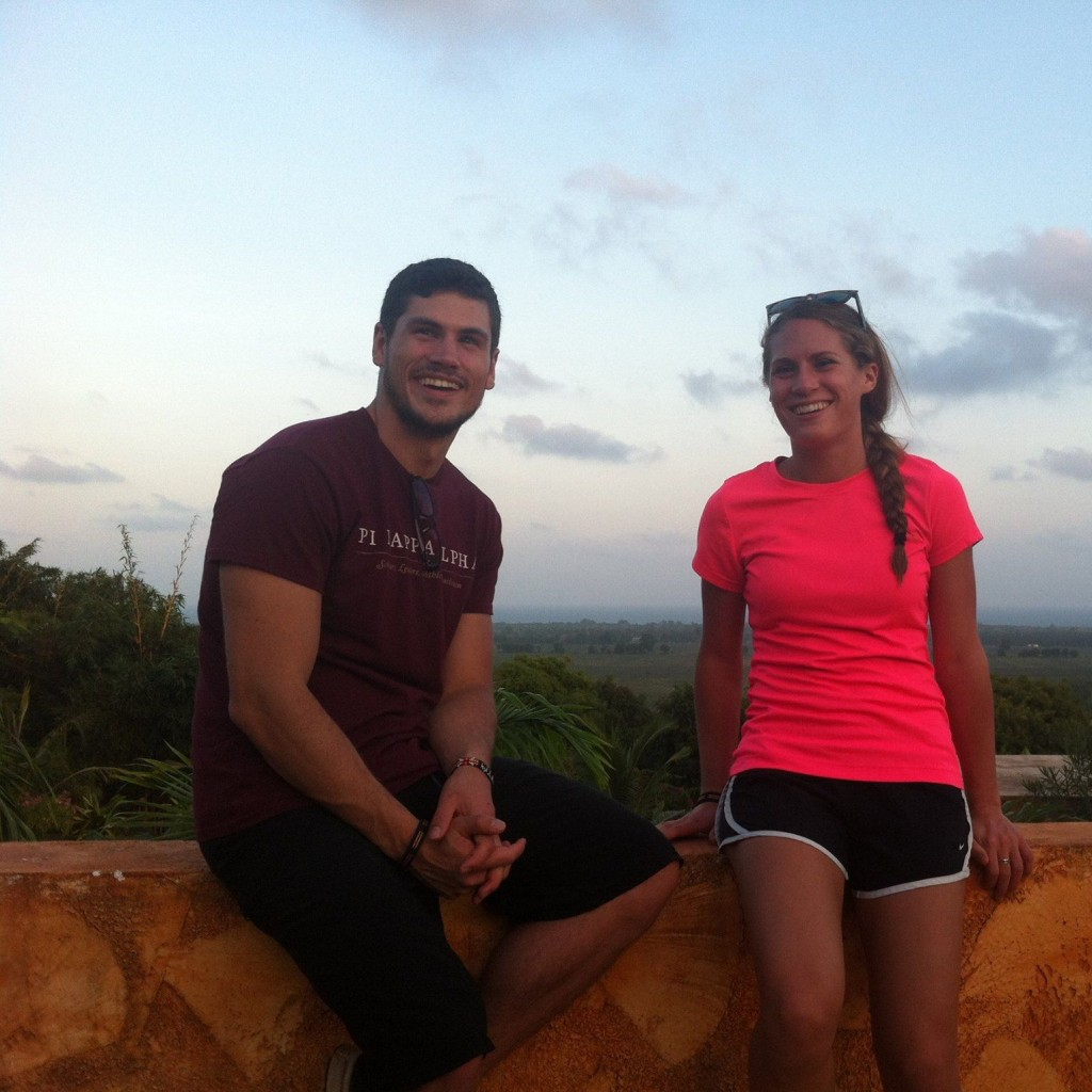 Matt Harbert with his fiance Mariah Cyphers, in Mombasa, Kenya.
