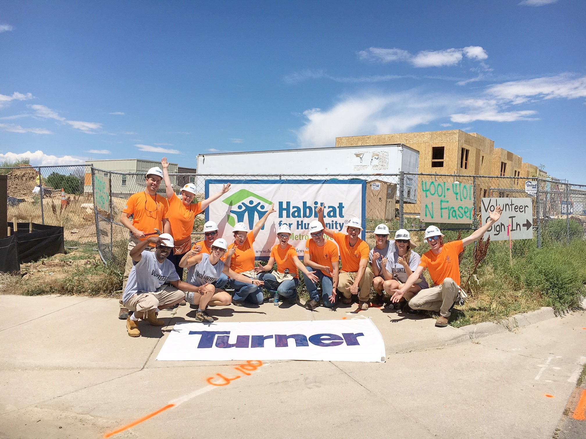 Turner construction teams with flatiron for habitat for for Construction habitat