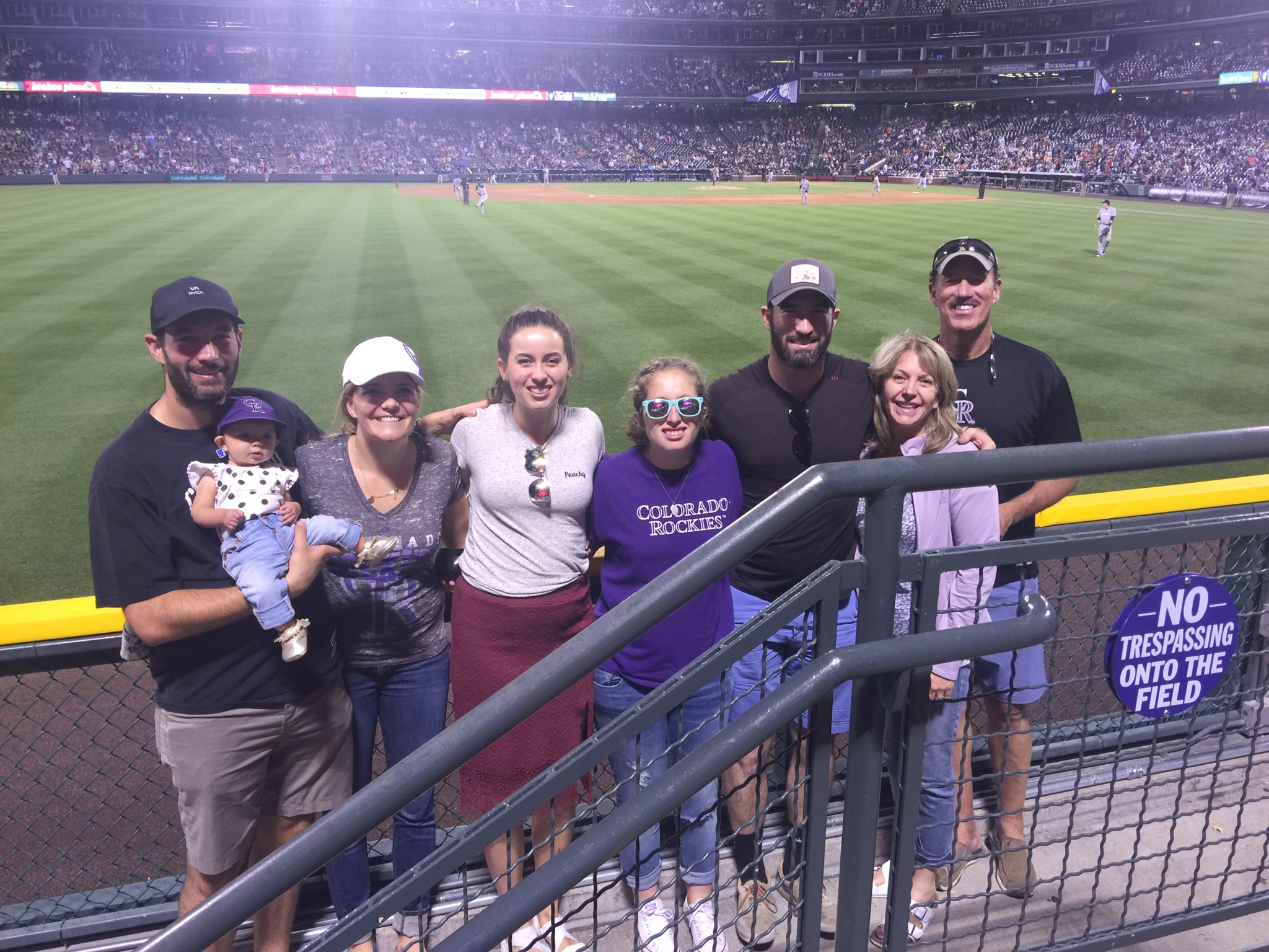 Weisiger family at Colorado Rockies game.