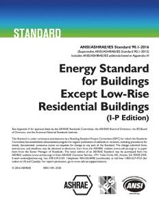 ASHRAE Energy Standard
