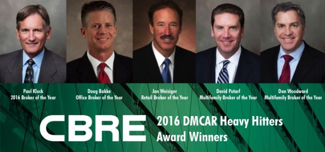 CBRE's Paul Kluck named 2016 Broker of the Year by DMCAR