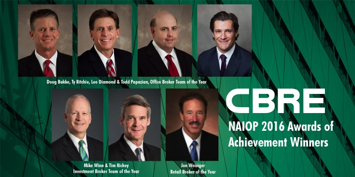 CBRE NAIOP Winners Collective 2016-17