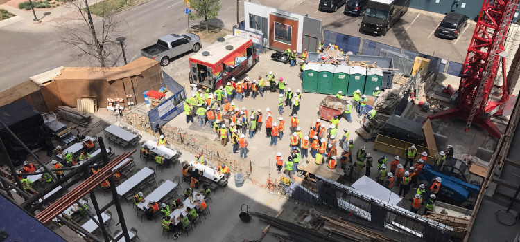 The Moxy Hotel, Cherry Creek Tops Out