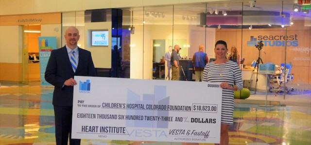 VESTA and Fastaff Travel Nursing Donate Nearly $20,000 to the Children's Hospital Colorado Heart Institute