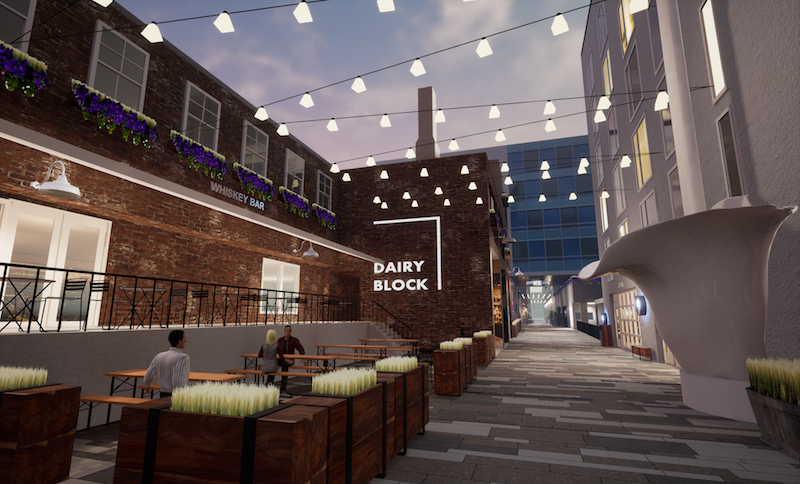 Dairy Block Alley rendering