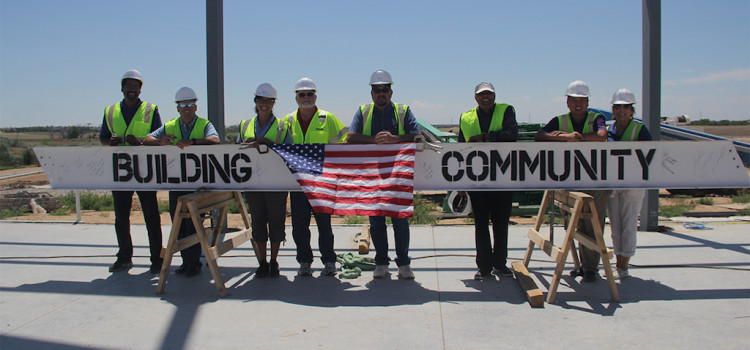 Pinkard Construction Celebrates Topping Out at Commerce City's New Rec Center