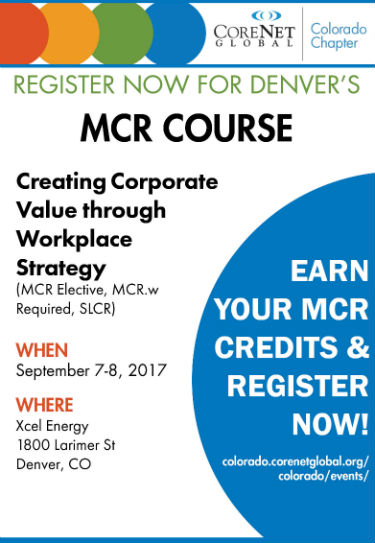 2017 CoreNet MCR Course Ad