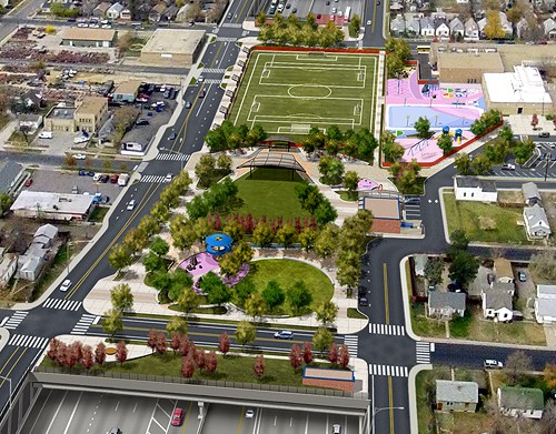 I-70 East Environmental Impact Statement (EIS) Project - Visual Simulation of the Partial Covered Lowered Alternative