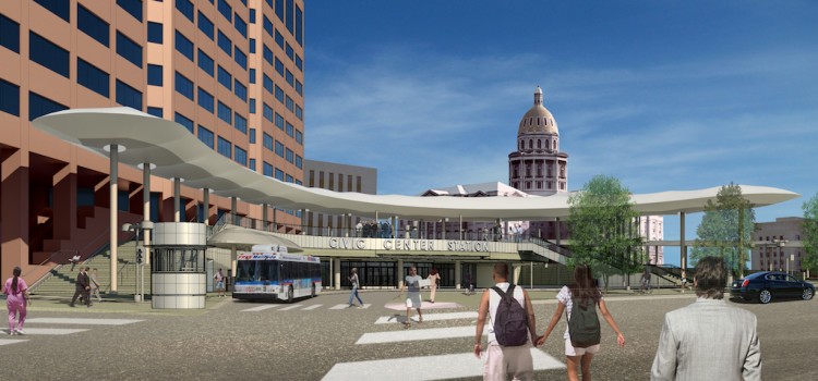 Iconic Design Feature Being Installed at RTD's Civic Center Station