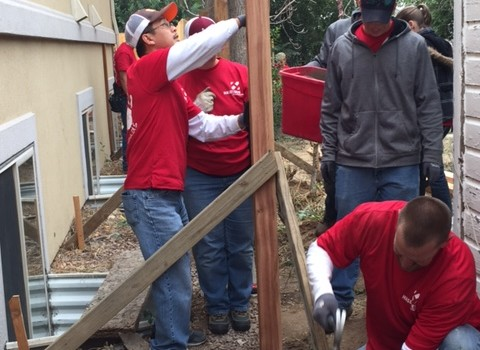 Haselden Construction Teams up with CSU for Community Makeover in Swansea
