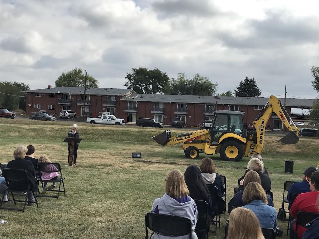 Groundbreaking of Edgewater Civic Center