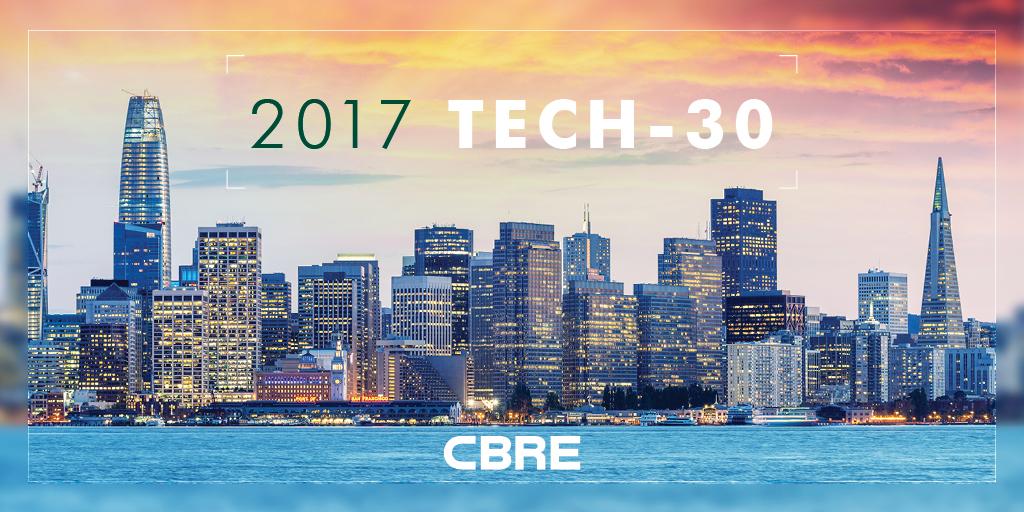 2017 Tech-30 Report Cover_CBRE Research