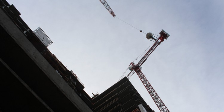 Images of The Coloradan Topping Out, courtesy of Jodye Whitesell.