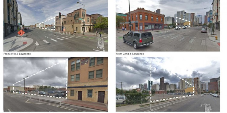 Site photos of 2136 Lawrence Street, Denver.