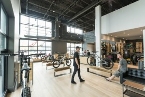 Commencal's showroom in Vancouver, CA.