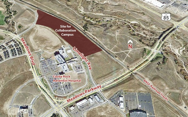 "Arapahoe Community College will construct a $40 million ""Collaboration Campus"" in Castle Rock."
