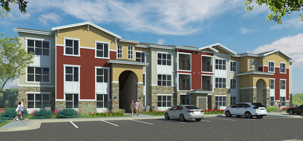 East Range Crossings, a 252-unit affordable housing project broke ground in northeast Denver today.