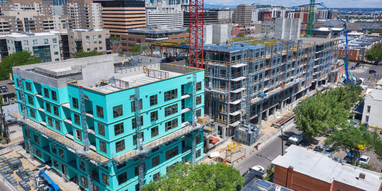 Residential Development In Uptown Denver Tops Out Mile High Cre